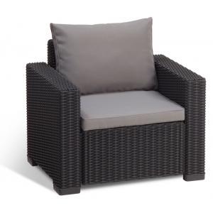 Moorea loungestoel antraciet