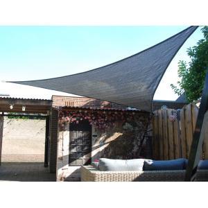 Schaduwdoek driehoek 5 meter antraciet