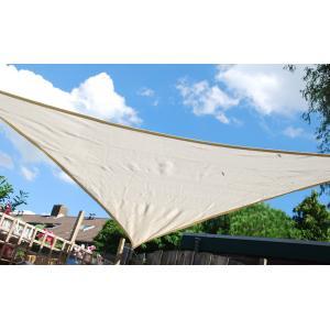 Schaduwdoek driehoek 5 meter gebroken wit