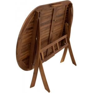 Benita opklapbare houten tuintafel 85 x 160 cm