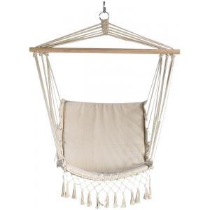 Hangmatstoel Macrame beige