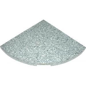 Kruisvoet graniettegel 25 kg grijs