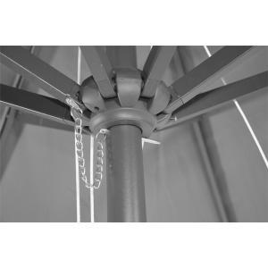 Stokparasol Virgo 400 cm grijs