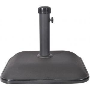 Parasolvoet beton vierkant 25 kg zwart