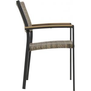 Arezzo stapelstoelen antraciet wicker