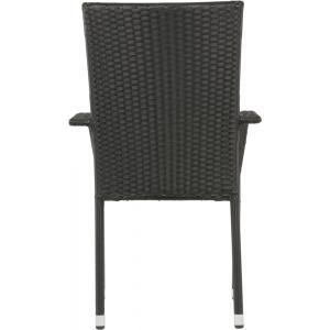 Corona stapelstoel zwart set van 4