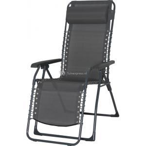 Relaxstoel grijs textileen