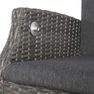 Soho Comfort Coal tuinstoel grijs set van 2