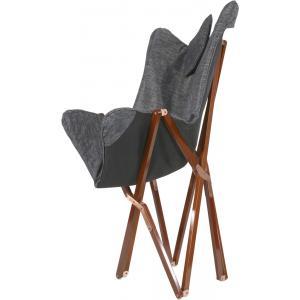 Vlinderstoel hout antraciet