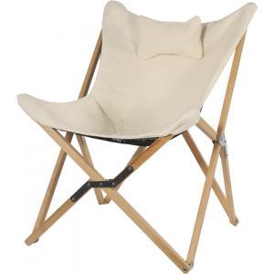 Vlinderstoel hout crème