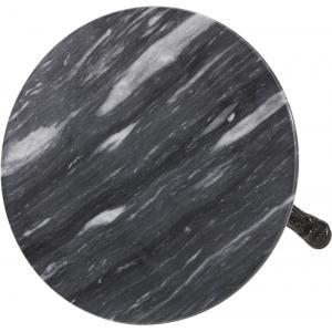 Terrastafel rond met grijs marmeren blad