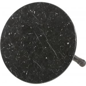 Terrastafel rond met zwart marmeren blad