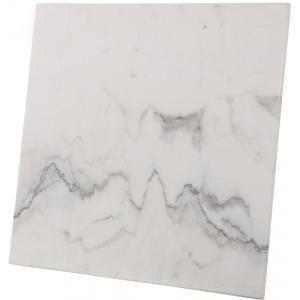 Terrastafel vierkant met wit marmeren blad