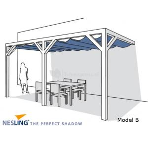 Complete Nesling pergola Wall 2 antraciet