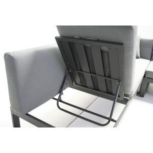 Loungeset Malaga aluminium