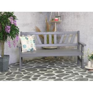 Bretagne 3-persoons houten tuinbank grijs