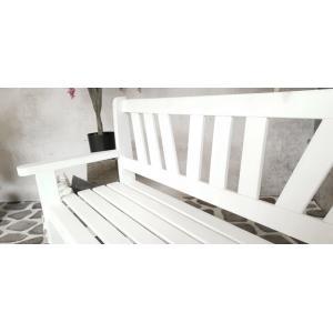 Bretagne 3-persoons houten tuinbank wit