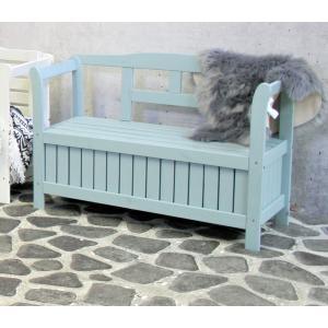 Pinokkio 2-persoons houten koffer tuinbank blauw