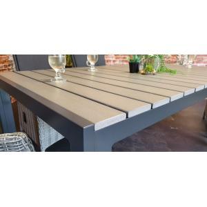 SenS line Jersey tuintafel grijs 160 cm