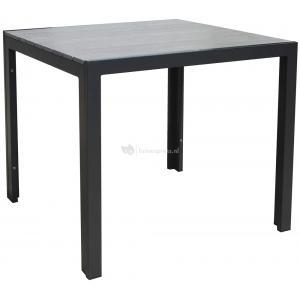 SenS line Jersey tuintafel grijs vierkant 90 cm
