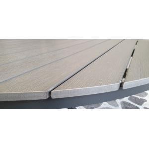 SenS line Jersey tuintafel grijs rond 140 cm
