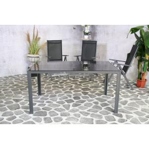 SenS line Palermo aluminium tuintafel 150cm met glazen blad