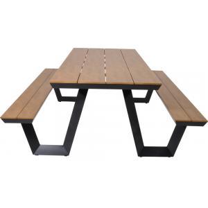 Picknicktafel Arezzo aluminium rechthoekig