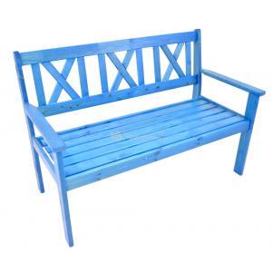 Luton 2-persoons tuinbank blauw