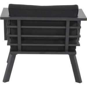 Regatta loungestoel aluminium zwart