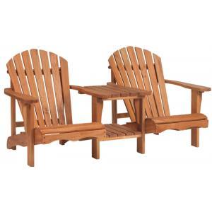 Dubbele loungestoel Relax hardhout